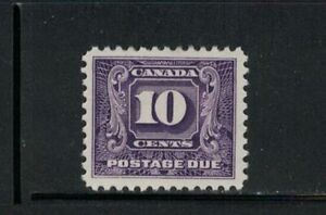 CANADA-MNH-2nd ISSUE POSTAGE DUE 10c #J10 VERY FINE. HIGH VALUE. SEE PHOTO