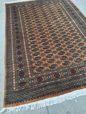 6x9 Hand knotted oriental rug GOLD 100% Wool Pile Bokhara/Cotton Base.
