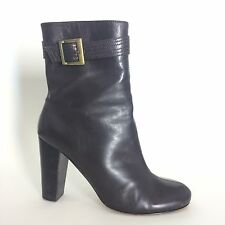 GUESS Marciano Womens Mid Calf Brown Leather Boots Size 7.5 High Heel Booties