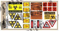 Diorama/Model Accessory - 1/35 Zombie Apocalypse Biohazard Signs