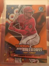 2018 Bowman Birthdays Trea Turner Orange 8/25 Washington Nationals