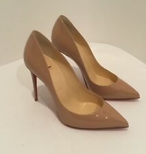 New! Christian Louboutin Pigalle Follies 100mm Nude Patent Leather Size 37