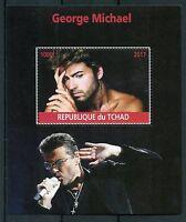 Chad 2017 MNH George Michael 1v M/S Pop Stars Music Celebrities Stamps