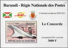 Aérospatiale BAC CONCORDE Airliner Aircraft Stamp Sheet #4 (2012 Burundi)