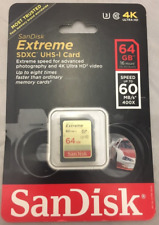 SanDisk Extreme 400X 60MB/S Class 10 64GB SDXC SD UHS-I U1 Flash Memory Card