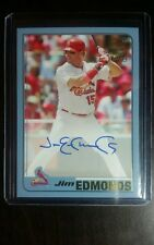 2017 Topps Archives Jim Edmonds Fan Favorites Blue On Card Auto 74/75 FFA-JE