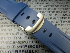 24mm Rubber Diver Strap Deployment Buckle Watch Band Blue PANERAI Pam 90 XB