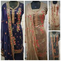 CHANDERI Indian Salwar Kameez MEW Pakistani Bollywood Designer Anarkali Suit