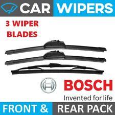 Ford Fiesta 2002 - 2008 BOSCH Front Aerotwin & Rear Wiper Blades Triple Pack