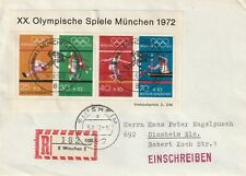 1972 Germany registered cover sent from Munchen to Sinsheim