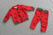 EUC CATIMINI ZIP JACKET & PANTS JOGGER SET 6 -12 MONTHS SZ 12 M 74 BABY BOY/GIRL