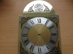 "Longcase Grandfather Chiming Clock Dial Face 11x15.5"""