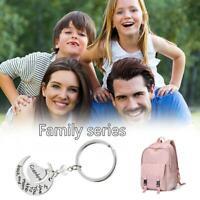 Nouveau mignon je t'aime porte-clés famille série porte-clés cadeau de Noël