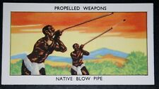 Blowpipe Weapons Vintage Illustrated Card