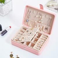 Earring Ring Jewelry Display Storage Box Case Organizer Flannel Tray Holder