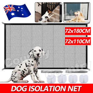 Safety Enclosure Dog Gate Barrier Mesh Safe Pet Anywhere Magic Guard Install NEW