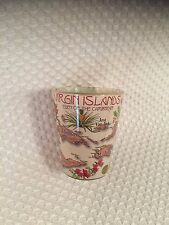 Virgin Islands Shot Glass Eden of the Caribbean Color ISLAND FACTS HISTORY