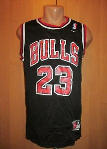 CHICAGO BULLS #23 MICHAEL JORDAN SWINGMAN BASKETBALL JERSEY SHIRT BLACK NIKE (M)