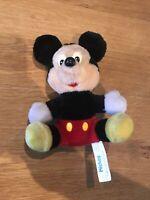 "Vintage Disney 1989 Hasbro Mickey Mouse Soft Toy Plush 7"""
