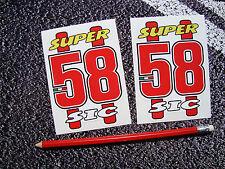 SUPER SIC SIMONCELLI  STICKERS MOTO GP YAMAHA DUCATTI 58 HONDA X2 SUPERBIKES