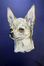 """CHIHUAHUA dog pet animal realism 11""""x14"""" colored pencils on paper by ArtKaska"""