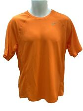 New NIKE RUNNING Gym Mens DriFit Stay Cool Ventilated gym Top Shirt Orange M
