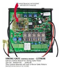 Genuine Swing Gate Control Board For Letron Gate Motor