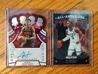 2019-20 PANINI CROWN ROYALE AUTO RED /20 DE ANDRE HUNTER & RJ BARRETT PRIZM RC