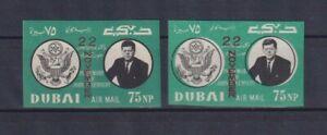 Dubai: Nr. 144 B ** postfrisch (Abart: verschobener Druck) J.F. Kennedy