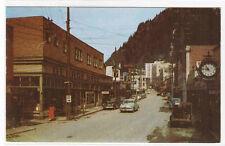 Franklin Street Cars Juneau Alaska 1959 postcard