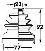Borg & Beck Driveshaft Bellow CV Joint Boot Kit BCB6123 - 5 YEAR WARRANTY