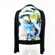 Laurel Women's Jacket 12131 Size 36 Black Silk Print Multicoloured Blouson NP