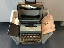 Old Vtg Olivetti Underwood Lettera 32 Portable Typewriter Italy With Case