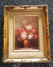 Still Life flower oil painting signed by Robert Lex