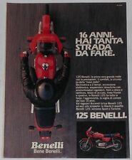 Advert Pubblicità 1982 BENELLI 125