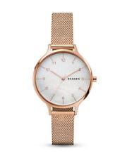 Skagen Anita - Damen Armbanduhr flache Uhr Watch Rosegold 36mm Milanaise Band