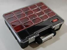 Heavy Duty Deep Tool Parts Storage Organiser Box Professional Inner Compartments