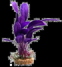 Aqua One A1-29078 Silk Plant Purple Echinodorus w/Gravel Base (L) for Aquarium