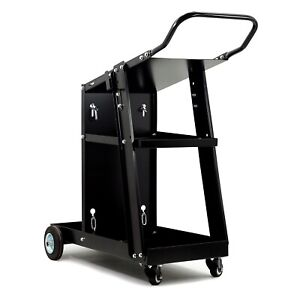 Welding cart with holder trolley for welding machine, MIG TIG PLASMA -Chains