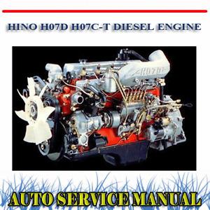 HINO H07D H07C-T DIESEL ENGINE WORKSHOP SERVICE REPAIR MANUAL ~ DVD