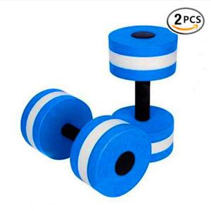Aqua Fitness Pair Water Exercise Pool Resistant Foam Dumbbells/Weights Set Of 2