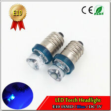 2pcs Lamp LED Bulb DC 3V Volt Blue MES E10 1447 Screw for Torch bike bicycle