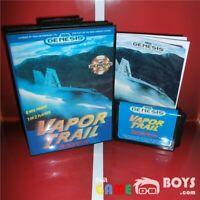 Vapor Trail Game Cartridge for SEGA Genesis Complete Manual USA Version NTSC-U/C