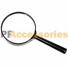 """4"""" inch Large Handheld Magnifying Glass 3X Power REAL Glass Magnifier"""