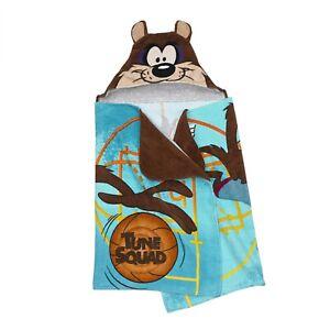 LOONEY TUNES SPACE JAM TAZ KIDS Hooded Bath Towel NEW