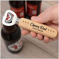 PERSONALISED Christmas Gifts for Dad Daddy Grandad Wooden Beer Bottle Opener
