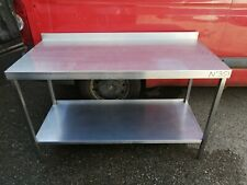 NO351 STAINLESS STEEL WALL TABLE 1450MM X 700MM X 900MM HIGH