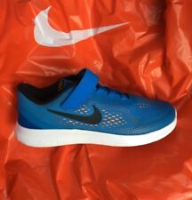 NEW Nike Free Run PSV•PHOTO BLUE/BLACK/TOTAL ORANGE• Boys Sz 3 Youth
