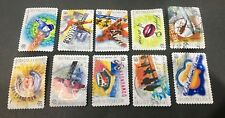 Australian 2001 Australia Rock & Pop Music set of 12 SA stamps, used Off Paper