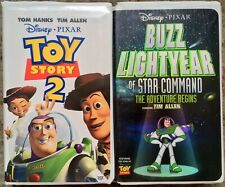 Toy Story 2 & Buzz Lightyear Of Star Command VHS Lot Of 2 Disney Pixar